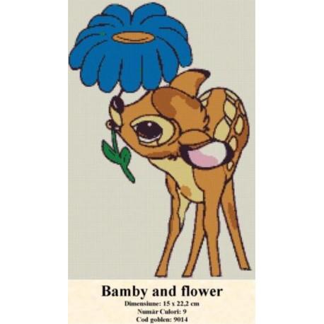 Set goblen  Bamby and flower