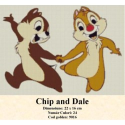 Model goblen Chip and Dale