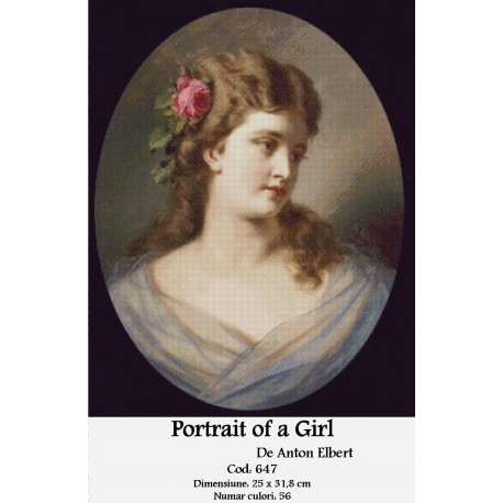 Kit goblen Portrait of a Girl de Anton Elbert
