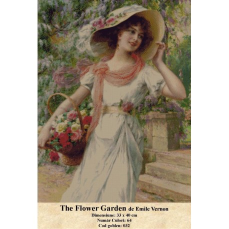 Model goblen The Flower Garden de Emile Vernon
