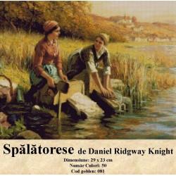 Set goblen  Spalatorese de Daniel Ridgway Knight