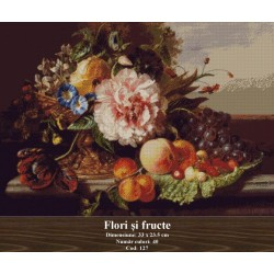 Model goblen Flori si Fructe