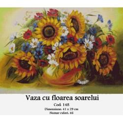 Set goblen  Vaza cu floarea soarelui