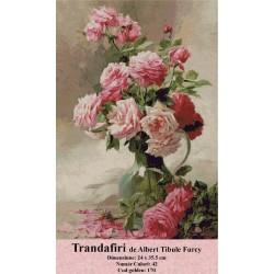 Model goblen Trandafiri de Albert Tibulefurcy