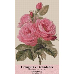 Model goblen Crenguta cu trandafiri