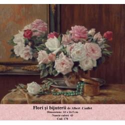 Set goblen  Flori si bijuterii de Albert  Caullet