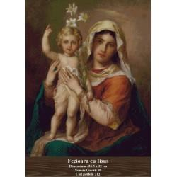 Model goblen Fecioara cu Iisus
