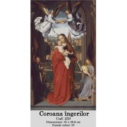 Set goblen  Fecioara  Maria cu Pruncul alaturi de cei patru Ingeri