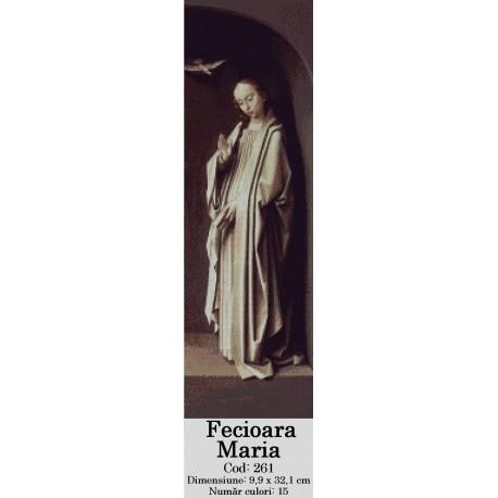 Model goblen Fecioara Maria si Buna Vestire