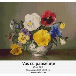 Kit goblen Vas cu panselute