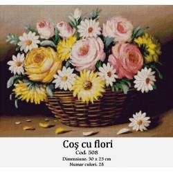 Set goblen  Cos cu flori