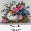 Model goblen Vaza cu flori