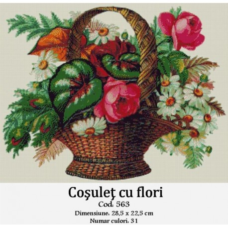 Set goblen  Cosulet cu flori