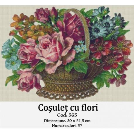 Model goblen Cosulet cu flori