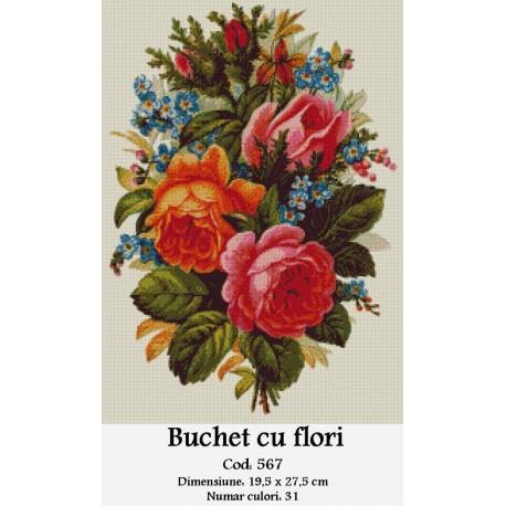 Kit goblen Buchet cu flori