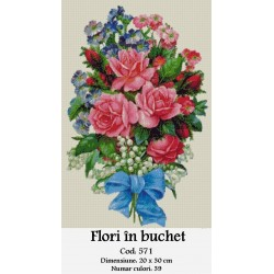 Kit goblen Flori in buchet