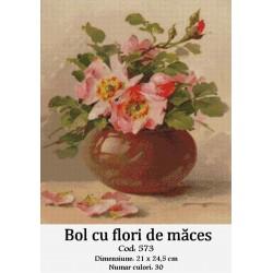 Set goblen  Bol cu flori de maces