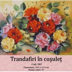Set goblen  Trandafiri in cosulet