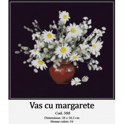 Set goblen  Vas cu margarete