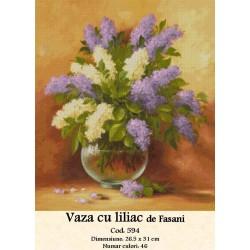 Set goblen  Vaza cu Liliac