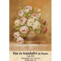 Kit goblen Vas cu Trandafiri