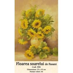 Model goblen Floarea Soarelui