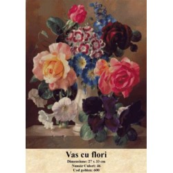 Set goblen  Vas cu flori