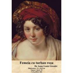 Model goblen Femeia cu turban rosu