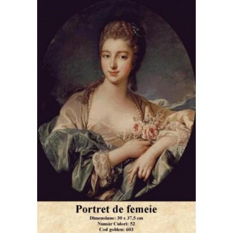 Set goblen  Portret de femeie
