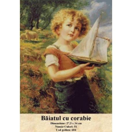 Kit goblen Baiatul cu corabie