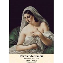 Kit goblen Portret de femeie