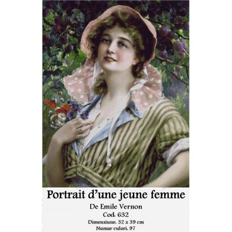 Model goblen Portrait d'une jeune femme