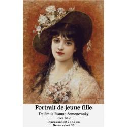 Kit goblen Portrait de jeune fille de Emile Eisman Semenowsky