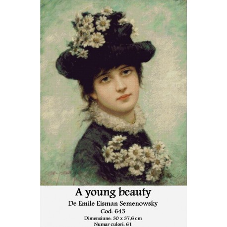 Model goblen A young beauty de Emile Eisman Semenowsky