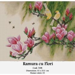 Set goblen  Ramura cu flori