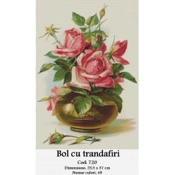 Kit goblen Bol cu trandafiri
