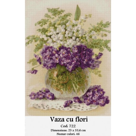 Set goblen  Vaza cu flori