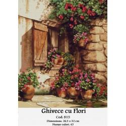 Kit goblen Ghivece cu flori