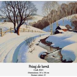 Model goblen Peisaj de iarna