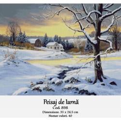Kit goblen Peisaj de iarna