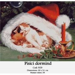 Model goblen Pisici dormind