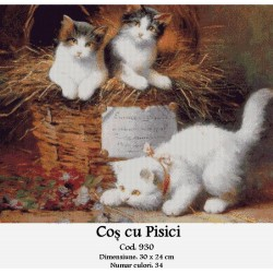 Set goblen  Cos cu pisici