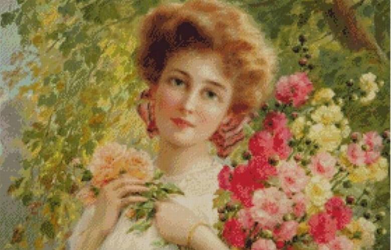 fata-cu-flori